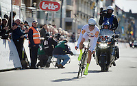 Alexander Kristoff (NOR/Katusha) finishing his TT<br /> <br /> 3 Days of De Panne 2015<br /> stage 3b: De Panne-De Panne TT