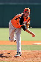 Netherlands National Team pitcher Leon Boyd #44 during a spring training exhibition game against the Tampa Bay Rays at Al Lang Field on March 18, 2012 in St. Petersburg, Florida.  Tampa Bay defeated the Netherlands 4-3.  (Mike Janes/Four Seam Images)