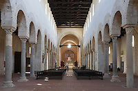 Italy, Calabria, Gerace: cathedral, inside. largest church of Calabria. Gerace is a diocesan town