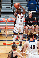 SAN ANTONIO, TX - NOVEMBER 10, 2017: The University of Texas at San Antonio Roadrunners defeat the Sul Ross State University Lobos 97-47 at the UTSA Convocation Center. (Photo by Jeff Huehn)