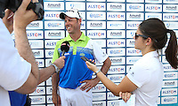 Smiles and laughter as Jaco Van Zyl (RSA) scores a 64 for the lead of the field during Round Three of the 2015 Alstom Open de France, played at Le Golf National, Saint-Quentin-En-Yvelines, Paris, France. /04/07/2015/. Picture: Golffile | David Lloyd<br /> <br /> All photos usage must carry mandatory copyright credit (© Golffile | David Lloyd)