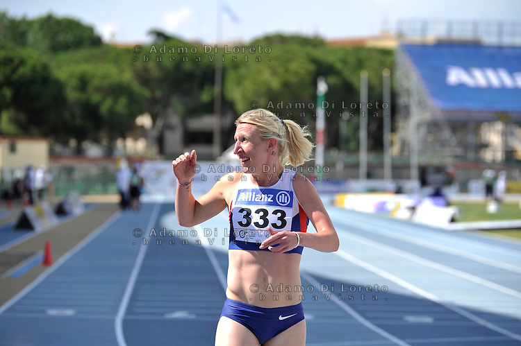 Hermitage Georgina (GBR) win and take a new world Record on the 400mt t38 during the European paralympic athletics championships June 13, 2016 in Grosseto, Italy. Photo:  Fortunato-DiLoreto/BuenaVista*photo