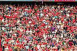 05.08.2018, Allianz Arena, Muenchen, GER, Testspiel,  FC Bayern Muenchen vs. Manchester United, im Bild DIe Bayern Fans in der Sued kurve machen keine Stimmung <br /> <br />  Foto © nordphoto / Straubmeier