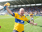 A Clare fan invades the pitch following their All-Ireland quarter final against Wexford at Pairc Ui Chaoimh. Photograph by John Kelly.