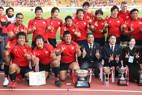 Teikyo University team group (Teikyo), .January 13, 2013 - Rugby: .The 49th All Japan University Rugby Championship Final .match between Teikyo University 39-22 Tsukuba University .at National Stadium, Tokyo, Japan. .(Photo by Daiju Kitamura/AFLO SPORT) [1045]