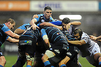 Cardiff Blues in possession at a maul. European Rugby Challenge Cup match, between Cardiff Blues and Bath Rugby on December 10, 2016 at the Cardiff Arms Park in Cardiff, Wales. Photo by: Patrick Khachfe / Onside Images