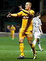 MOTHERWELL'S HENRIK OJAMAA CELEBRATES AFTER HE SCORES MOTHERWELL'S FOURTH GOAL..07/01/2012 sct_jsp011_motherwell_v_queens_park     .Copyright  Pic : James Stewart.James Stewart Photography 19 Carronlea Drive, Falkirk. FK2 8DN      Vat Reg No. 607 6932 25.Telephone      : +44 (0)1324 570291 .Mobile              : +44 (0)7721 416997.E-mail  :  jim@jspa.co.uk.If you require further information then contact Jim Stewart on any of the numbers above.........