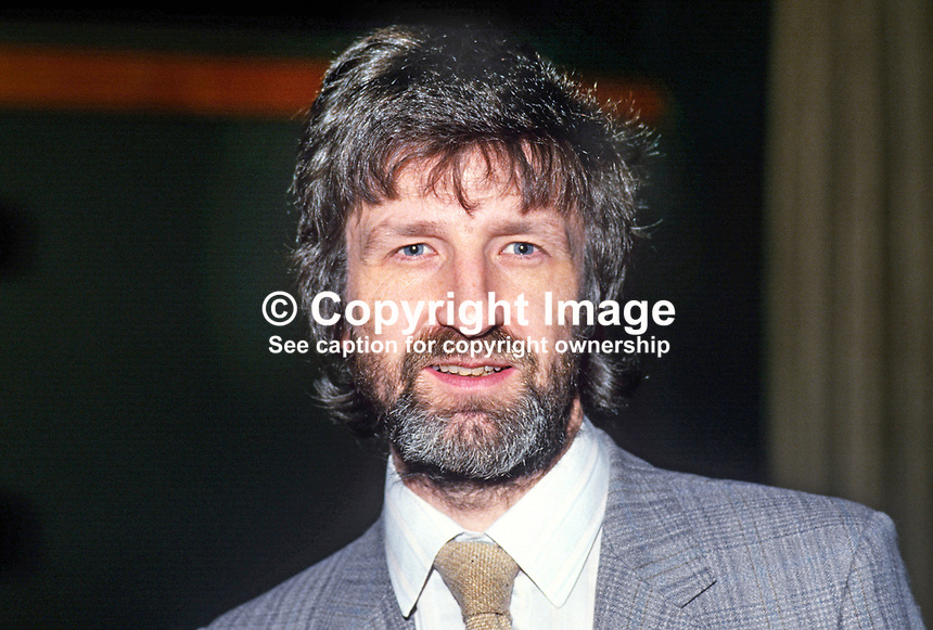 Mike Open, administrator, QUB Film Theatre, Queen's University, Belfast, N Ireland, UK, November 1985. 19851107MO2.<br />