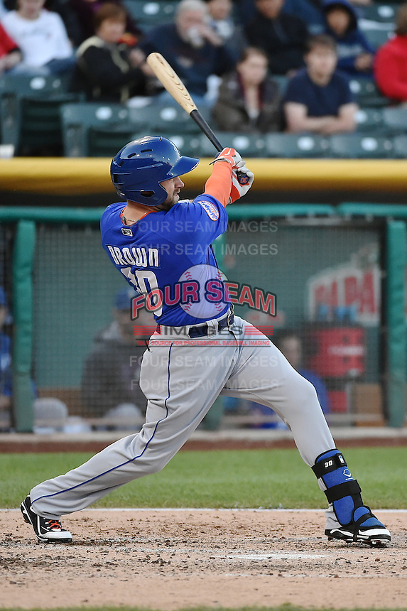 Andrew Brown (30) of the Las Vegas 51s at bat against the Salt Lake Bees at Smith's Ballpark on May 8, 2014 in Salt Lake City, Utah.  (Stephen Smith/Four Seam Images)