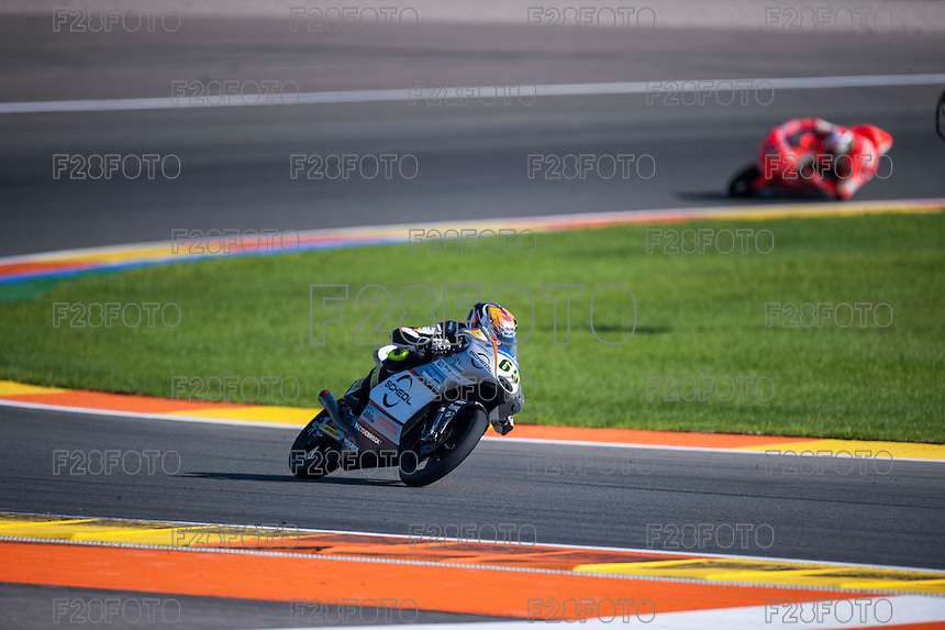 VALENCIA, SPAIN - NOVEMBER 8: Philipp Oettl during Valencia MotoGP 2015 at Ricardo Tormo Circuit on November 8, 2015 in Valencia, Spain