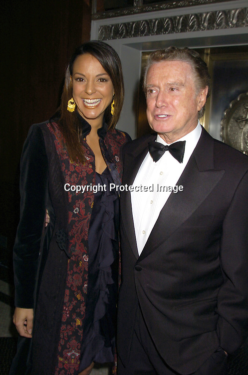 """Eva La Rue and Regis Philbin..at The 60th  Boys' Towns of Italy  """"Ball of the Year""""  on..April 8, 2005 at The Waldorf Astoria Hotel. ..Photo by Robin Platzer, Twin Images"""