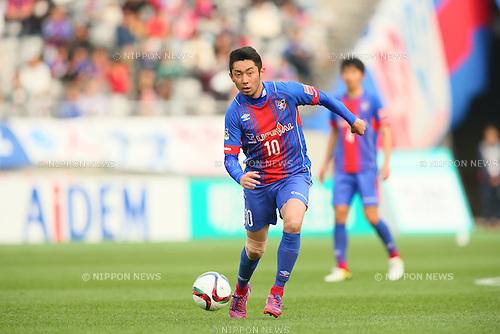 Yohei Kajiyama (FC Tokyo), <br /> APRIL 18, 2015 - Football /Soccer : <br /> 2015 J1 League 1st stage match <br /> between F.C. Tokyo 1-2 Sanfrecce Hiroshima <br /> at Ajinomoto Stadium, Tokyo, Japan. <br /> (Photo by YUTAKA/AFLO SPORT) [1040]