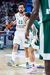Real Madrid Sergio Llull during Turkish Airlines Euroleague Quarter Finals 4th match between Real Madrid and Panathinaikos at Wizink Center in Madrid, Spain. April 27, 2018. (ALTERPHOTOS/Borja B.Hojas)