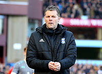 Birmingham City Manager Steve Cotterill<br /> <br /> Photographer Leila Coker/CameraSport<br /> <br /> The EFL Sky Bet Championship - Aston Villa v Birmingham City - Sunday 11th February 2018 - Villa Park - Birmingham<br /> <br /> World Copyright &copy; 2018 CameraSport. All rights reserved. 43 Linden Ave. Countesthorpe. Leicester. England. LE8 5PG - Tel: +44 (0) 116 277 4147 - admin@camerasport.com - www.camerasport.com
