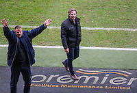 Wycombe Wanderers Manager Gareth Ainsworth & Wycombe Chairman Andrew Howard during the Sky Bet League 2 match between Notts County and Wycombe Wanderers at Meadow Lane, Nottingham, England on 10 December 2016. Photo by Andy Rowland.