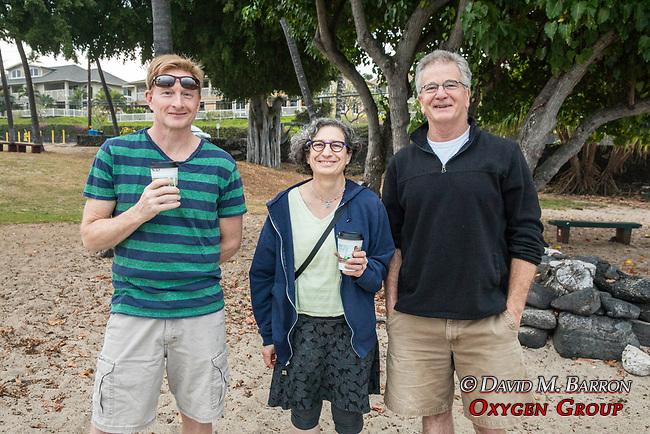 Adam Debora & John, Morning Coffee, Kona