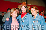 Barn Dance : Attending the fund raising barn dance at Browne's farm, Mountcoal  on Friday night last were Bernadette Galvin, Margaret Relihan & Mags  Galvin.