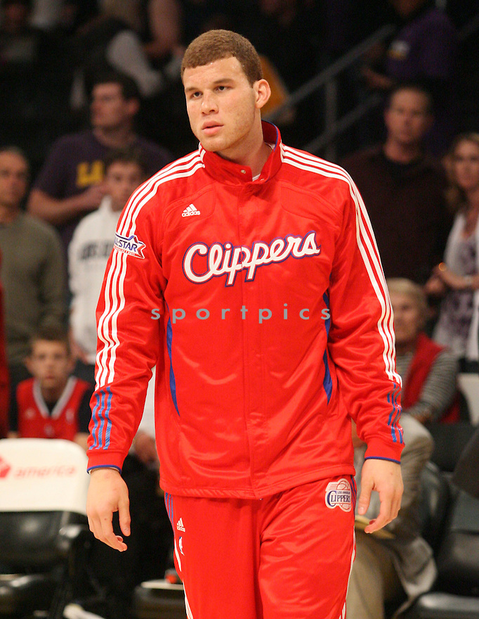 BLAKE GRIFFIN, of the Los Angeles Clippers, in action during the Clippers game against the Los Angeles Lakers, on March 25, 2011 in Los Angeles. The Lakers beat the Clippers 112-104.