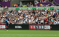Pictured: Interior view of the stadium Saturday 15 August 2015<br /> Re: Premier League, Swansea City v Newcastle United at the Liberty Stadium, Swansea, UK.