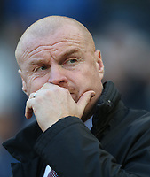 Burnley manager Sean Dyche <br /> <br /> Photographer Rob Newell/CameraSport<br /> <br /> The Premier League - West Ham United v Burnley - Saturday 3rd November 2018 - London Stadium - London<br /> <br /> World Copyright &copy; 2018 CameraSport. All rights reserved. 43 Linden Ave. Countesthorpe. Leicester. England. LE8 5PG - Tel: +44 (0) 116 277 4147 - admin@camerasport.com - www.camerasport.com