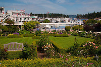 Formal Garden at Roche Harbor, San Juan Island, Washington, US
