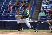 Daytona Tortugas outfielder Sebastian Elizalde (24) at bat during a game against the Tampa Yankees on April 24, 2015 at George M. Steinbrenner Field in Tampa, Florida.  Tampa defeated Daytona 12-7.  (Mike Janes/Four Seam Images)