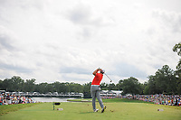 Jon Rahm (ESP) watches his tee shot on 17 during Sunday's final round of the PGA Championship at the Quail Hollow Club in Charlotte, North Carolina. 8/13/2017.<br /> Picture: Golffile | Ken Murray<br /> <br /> <br /> All photo usage must carry mandatory copyright credit (&copy; Golffile | Ken Murray)