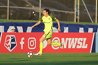 Piscataway, NJ - Saturday August 19, 2017: Game action during a regular season National Women's Soccer League (NWSL) match between Sky Blue FC and the Seattle Reign at Yurcak Field.  After falling behind, 3-0 in the first half, Sky Blue rallied behind four goals by Samantha Kerr to win the match, 5-4.