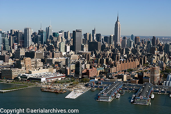 aerial photograph Chelsea Piers, Manhattan, New York City