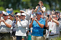 Spectators take photos of Tiger Woods (USA) teeing off on the 8th hole during the second round of the 118th U.S. Open Championship at Shinnecock Hills Golf Club in Southampton, NY, USA. 15th June 2018.<br /> Picture: Golffile | Brian Spurlock<br /> <br /> <br /> All photo usage must carry mandatory copyright credit (&copy; Golffile | Brian Spurlock)