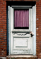 Montreal (Qc) CANADA - File photo taken between 1983 and 1989  - - Montreal east end door
