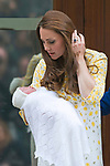 PRINCESS CHARLOTTE<br /> The daughter of the Duke and Duchess of Cambridge will be 2-years-old on the 2nd of May 2017.<br /> These images are a retrospective from birth to the present, showing the Princess on the rare public appearances.<br /> <br /> 02.05.2015, London; UK: BIRTH OF NEW PRINCESS - DUKE AND DUCHESS OF CAMBRIDGE<br /> with their new born daughter, St.Mary's Hospital Paddington<br /> The Princess was born at 8.34 am and weighed 8lbs 3oz.<br /> MANDATORY PHOTO CREDIT: &copy;Francis Dias/NEWSPIX INTERNATIONAL<br /> <br /> IMMEDIATE CONFIRMATION OF USAGE REQUIRED:<br /> Newspix International, 31 Chinnery Hill, Bishop's Stortford, ENGLAND CM23 3PS<br /> Tel:+441279 324672  ; Fax: +441279656877<br /> Mobile:  07775681153<br /> e-mail: info@newspixinternational.co.uk<br /> Usage Implies Acceptance of Our Terms &amp; Conditions<br /> Please refer to usage terms. All Fees Payable To Newspix International