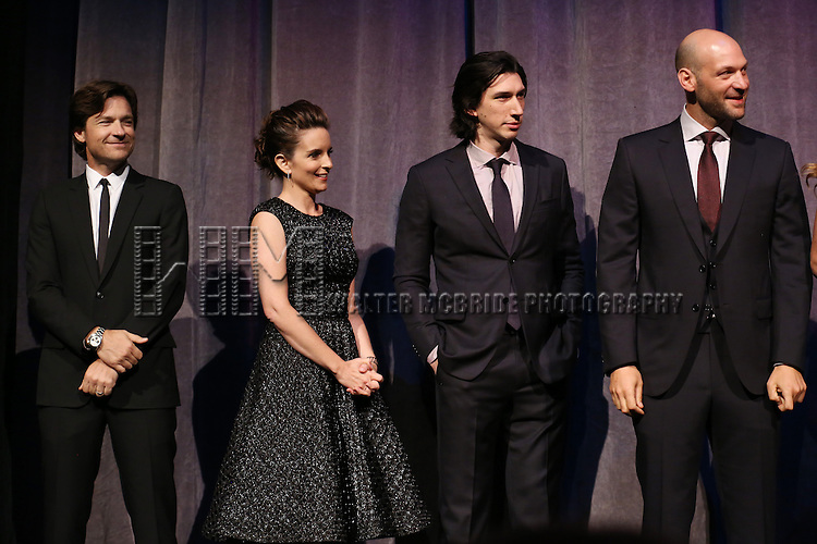 Jason Bateman, Tina Fey, Adam Driver and Corey Stoll during the presentation of 'This Is Where I Leave You'  at the 2014 Toronto International Film Festival at the Roy Thomson Hall on September 7, 2014 in Toronto, Canada.