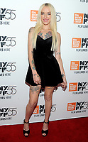 NEW YORK, NY - OCTOBER 01: Bria Vinaite attends The 55th New York Film Festival - 'The Florida Project' at Alice Tully Hall on October 1, 2017 in New York City. <br /> CAP/MPI/PAL<br /> &copy;PAL/MPI/Capital Pictures
