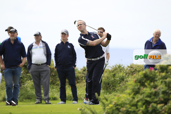 Shane Rice (Castlebar) during the final of the AIG Jimmy Bruen Shield Connacht Final, in Galway Bay Golf Club, Galway, Ireland. 12/08/2017<br /> Picture: Fran Caffrey / Golffile
