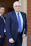 Josep Borrell Minister of Foreign Affairs, European Union and Cooperation before the working lunch with the elected president of the European Commission, Ursula von der Leyen and the President of the Government of Spain, Pedro Sanchez, celebrates in the Palace of La Moncloa. July 31,2019. (ALTERPHOTOS/Acero)