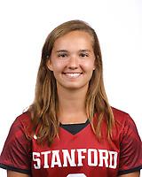 STANFORD, CA - August 16, 2019: Liz Heckard on Field Hockey Photo Day.