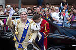 "© Joel Goodman - 07973 332324 . 23/08/2014 .  Manchester , UK . The Queen , gawd bless er . The parade through Manchester City Centre . Manchester Pride "" Big Weekend "" in Manchester "" today ( 23rd August 2014 ) . Photo credit : Joel Goodman"