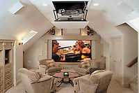 Casual Home Theater With Surround Sound