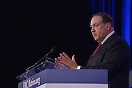 Washington, DC - September 25, 2015: Former Arkansas governor Mike Huckabee addresses attendees of the Values Voter Summit at the Omni Shoreham Hotel in the District of Columbia, September 25, 2015.  (Photo by Don Baxter/Media Images International)