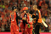 8th January 2018, The WACA, Perth, Australia; Australian Big Bash Cricket, Perth Scorchers versus Melbourne Renegades; Ashton Agar (R) shakes hands with former team mate Brad Hogg (L) after the Scorcher won against the Renegades