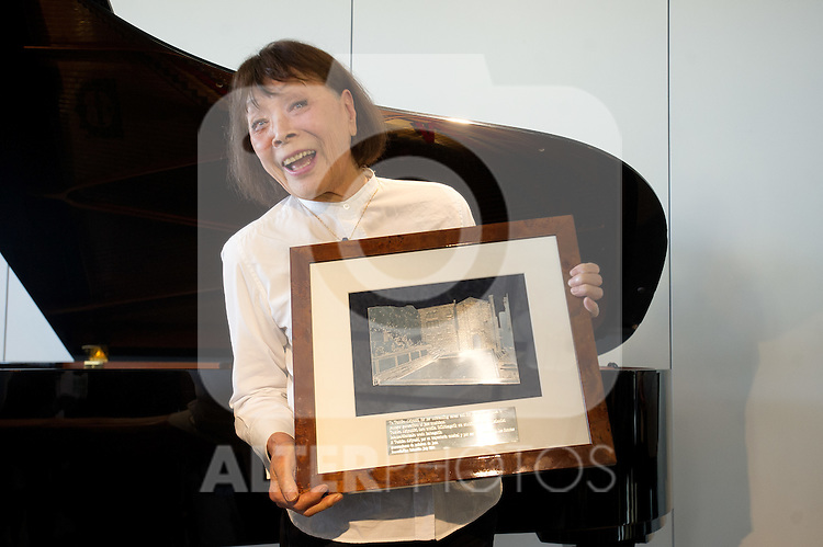 "The japanese pianist Toshiko Akiyoshi receives the ""Donostiako  Jazzaldia"" Award and offers a piano concert in the Basque Culinary Center during the 49th Heineken Jazzaldia in San Sebastian to July 25 of 2014"