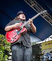 Jonathon Boogie Long performs at the 2013 Blues & BBQ Festival in New Orleans, LA.