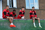 Players stay behind to watch the filming during the Sheffield Utd training session at the Shirecliffe Training Complex , Sheffield. Picture date: September 29th, 2016. Pic Simon Bellis/Sportimage