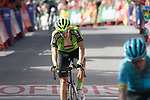 Aritz Bagues Kalparsoro (ESP) Euskadi- Murias crosses the finish line at the end of Stage 4 of the La Vuelta 2018, running 162km from Velez-Malaga to Alfacar, Sierra de la Alfaguara, Andalucia, Spain. 28th August 2018.<br /> Picture: Colin Flockton   Cyclefile<br /> <br /> <br /> All photos usage must carry mandatory copyright credit (&copy; Cyclefile   Colin Flockton)