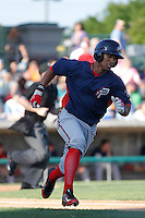 Potomac Nationals second baseman Christopher Bostick (11) at bat during a game against the Myrtle Beach Pelicans at Ticketreturn.com Field at Pelicans Ballpark on May 24, 2015 in Myrtle Beach, South Carolina.  Potomac defeated Myrtle Beach 1-0. (Robert Gurganus/Four Seam Images)