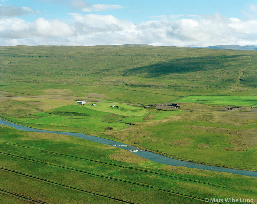 Höskuldsstaðir, Laxárdalshreppur, Loftmynd.Hoskuldsstadir farm, Laxardalshreppur, Aerial