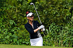 HAIKOU, CHINA - OCTOBER 30:  Catherine Zeta-Jones in action on the 5th hole during day four of the Mission Hills Start Trophy tournament at Mission Hills Resort on October 30, 2010 in Haikou, China. The Mission Hills Star Trophy is Asia's leading leisure liflestyle event and features Hollywood celebrities and international golf stars. Photo by Victor Fraile / The Power of Sport Images