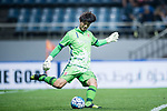 Jeju United Goalkeeper Kim Ho Jun in action during the AFC Champions League 2017 Group H match Between Jeju United FC (KOR) vs Gamba Osaka (JPN) at the Jeju World Cup Stadium on 09 May 2017 in Jeju, South Korea. Photo by Marcio Rodrigo Machado / Power Sport Images
