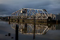 Wishkah River Train Swing Bridge, Aberdeen, Washington State